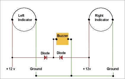 buzzer2 adding an audible turn indicator signal scooter focus all indicator buzzer wiring diagram at bayanpartner.co