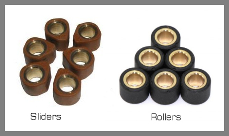Variator Tuning - Choosing the right roller weight - Scooter